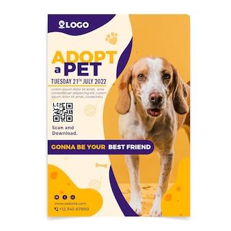 Gebruik een sjabloon voor een verticale poster voor huisdieren