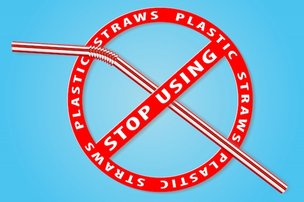 Gebruik geen plastic rietjes meer