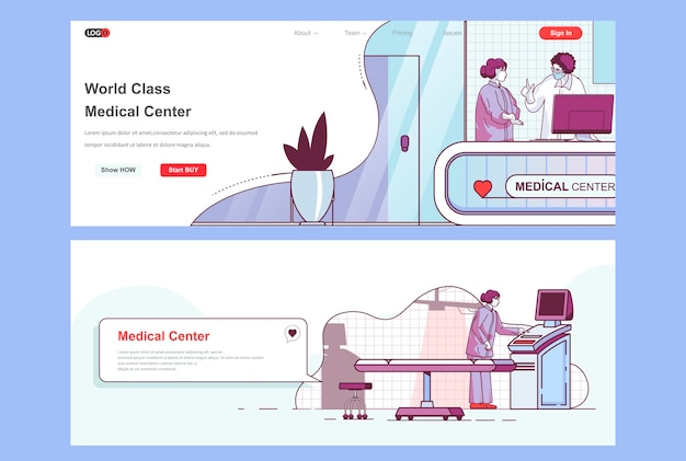 Gebruik sjabloon voor bestemmingspagina's van medisch centrum als koptekst