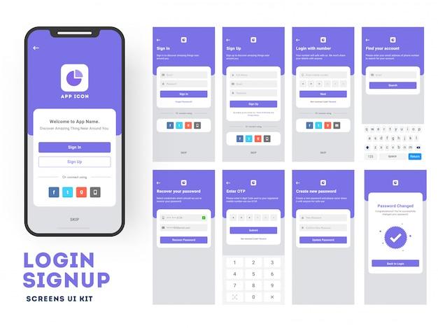 Gebruikers-app voor mobiele apps.