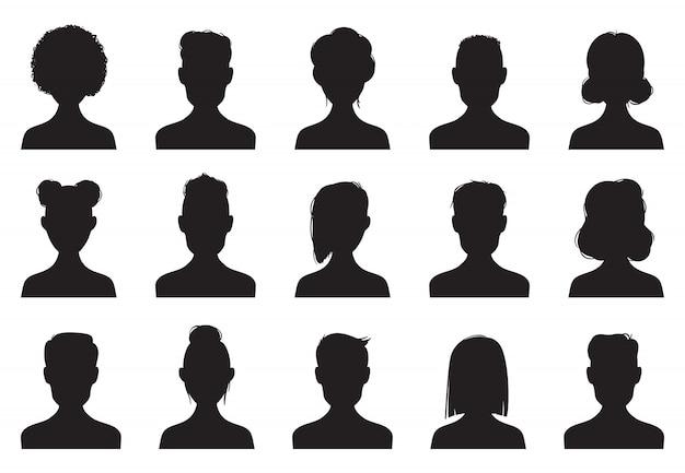 Gebruikers silhouet pictogrammen