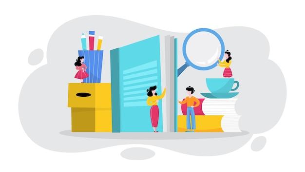 Gebruikershandleiding concept. gidsboek of instructie