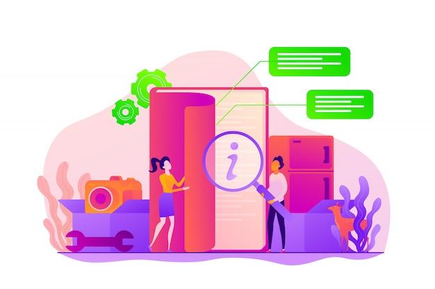 Gebruikershandleiding concept.