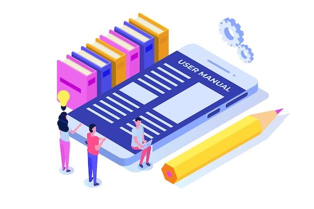 Gebruikershandleiding isometrische concept