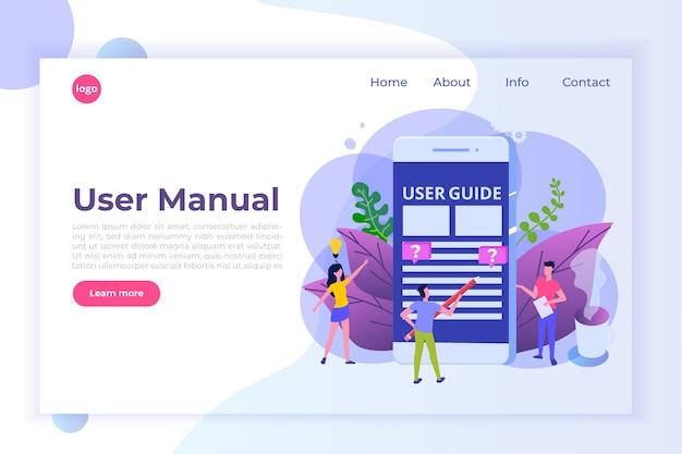 Gebruikershandleiding vlakke stijl concept