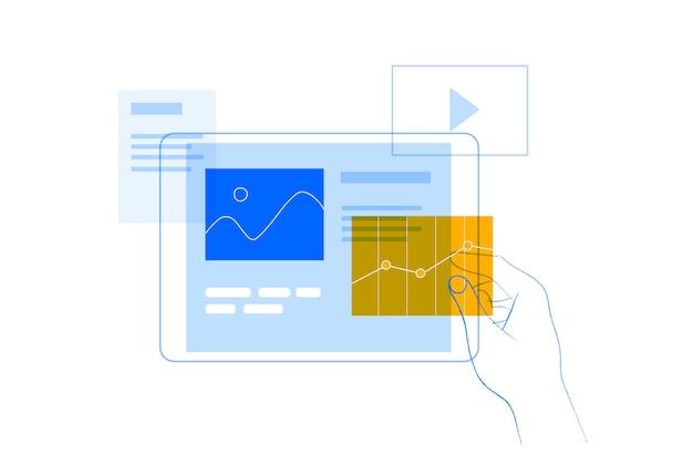 Gebruikersinterface concept illustratie