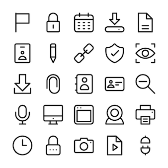 Gebruikersinterface lijn icon pack