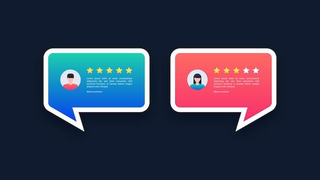 Gebruikersrecensies en feedbackconcept