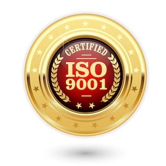 Gecertificeerde iso 900-medaille - insignes van het kwaliteitsmanagementsysteem