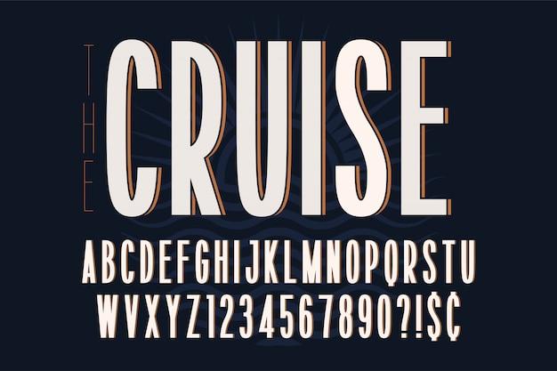Gecondenseerd eenvoudig lettertypeontwerp, alfabet, lettertype
