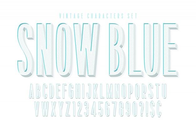 Gecondenseerd komisch 3d-lettertypeontwerp, alfabet