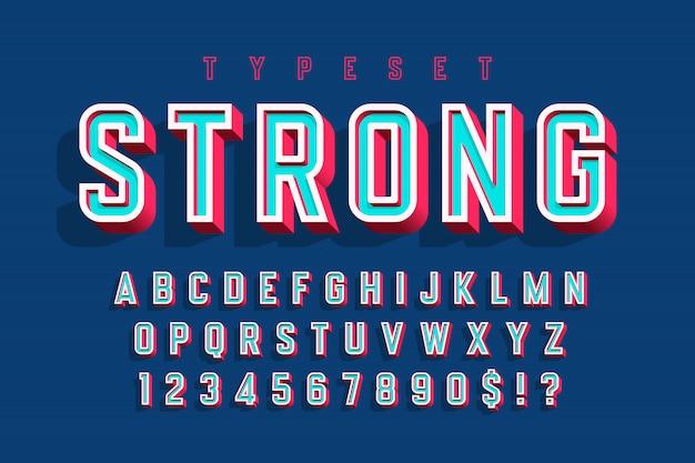 Gecondenseerd vet lettertype