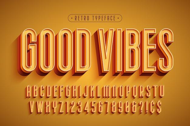 Gecondenseerde 3d-weergave lettertype