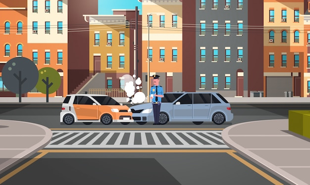 Gecrashte auto verkeersongeval