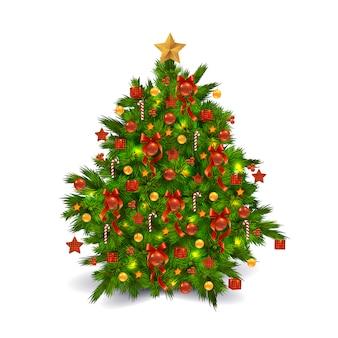 Gedecoreerde kerstboom