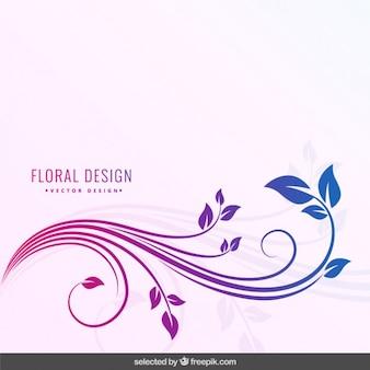 Gedegradeerde kleuren bloemen achtergrond