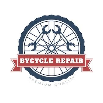 Gedetailleerd fietslogo van premium kwaliteit