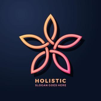 Gedetailleerd gouden holistisch logo