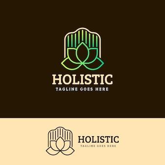 Gedetailleerd holistisch concept logo sjabloon