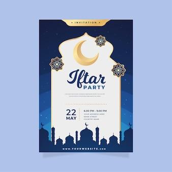 Gedetailleerd iftar-uitnodigingssjabloon