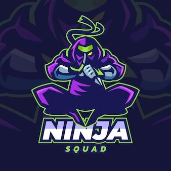 Gedetailleerd kleurrijk ninja-logo