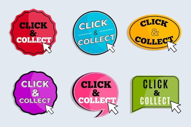 Gedetailleerd klik en verzamel tekenpakket
