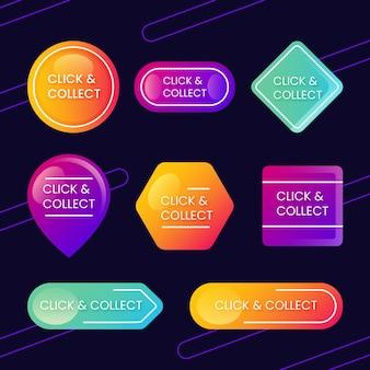 Gedetailleerd klik- en verzamelbord Premium Vector