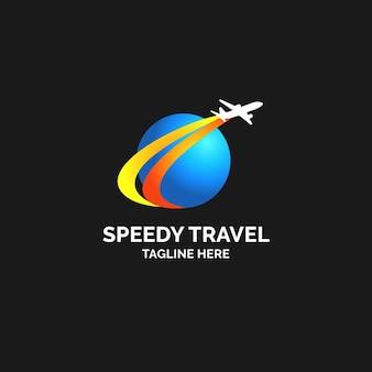 Gedetailleerd logo van het reisbedrijf