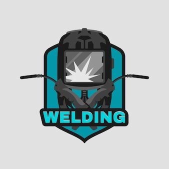 Gedetailleerd logo voor lasser logo