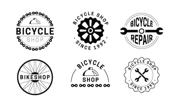 Gedetailleerd mechanisme fietslogo sjabloon