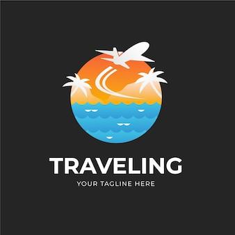 Gedetailleerd reislogo