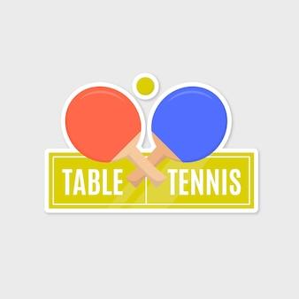 Gedetailleerd tafeltennislogo