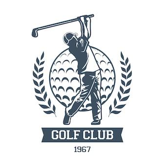 Gedetailleerd vintage golflogo