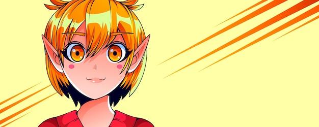 Gedetailleerde anime-bannersjabloon