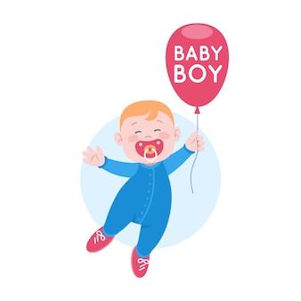 Gedetailleerde baby logo sjabloon