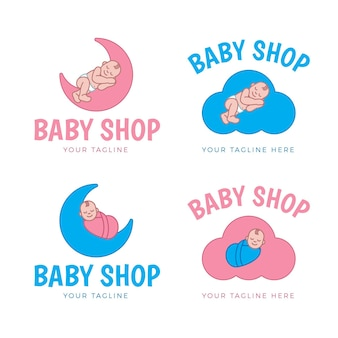 Gedetailleerde babylogo-sjablonen