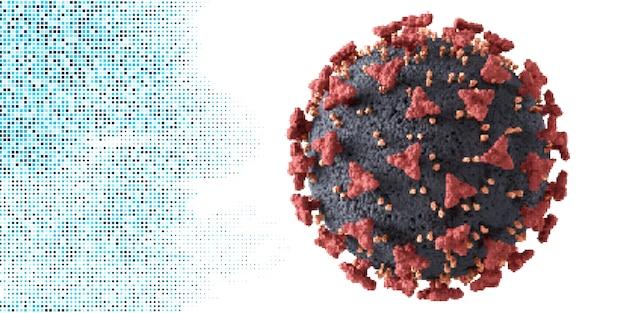 Gedetailleerde corona-viruscel