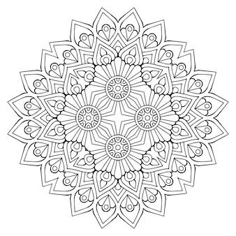 Gedetailleerde decoratieve mandalaillustratie
