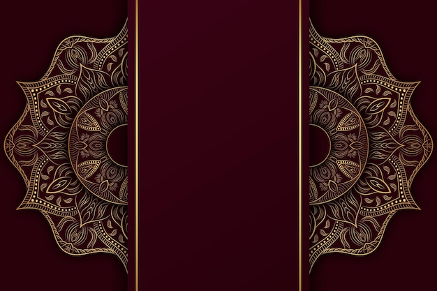 Gedetailleerde donkere mandala achtergrond