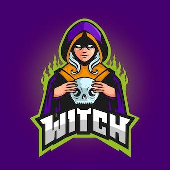 Gedetailleerde esports gaming-logosjabloon