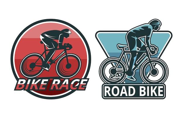 Gedetailleerde fietslogo sjabloon