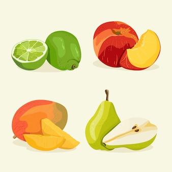 Gedetailleerde fruitcollectie
