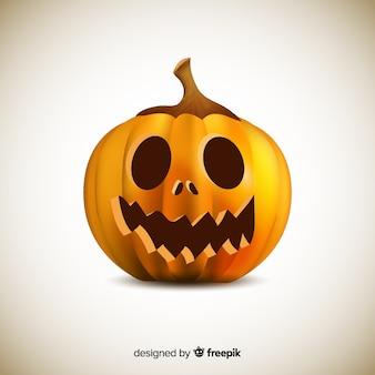 Gedetailleerde geïsoleerde halloween-pompoen