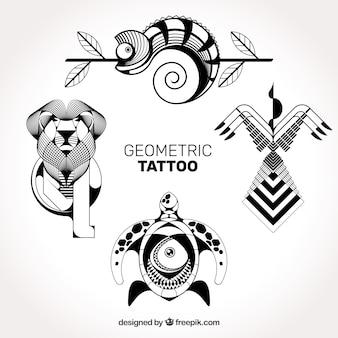 Gedetailleerde geometrische tatoeages