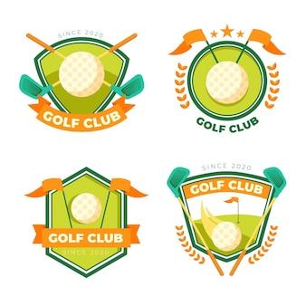 Gedetailleerde golflogo-collectie