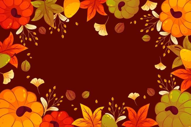 Gedetailleerde herfstachtergrond