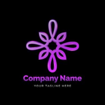 Gedetailleerde holistische logosjabloon