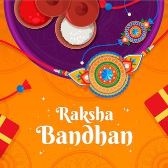 Gedetailleerde illustratie van raksha bandhan