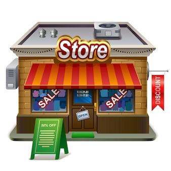 Gedetailleerde illustratie van winkel. xxl icoon