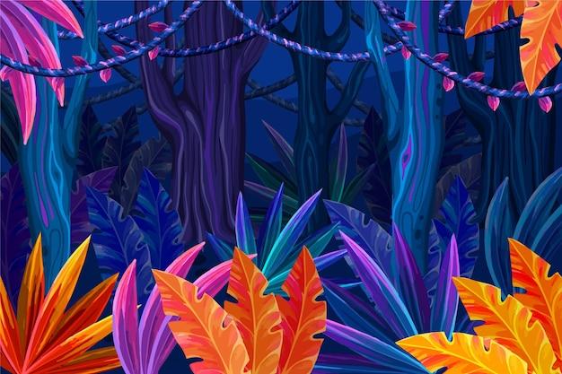 Gedetailleerde jungle achtergrond